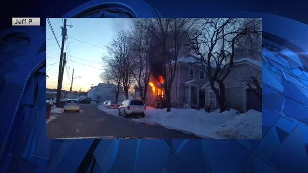 [NECN] Viewer Video: Fire Breaks Out at Home in Lowell