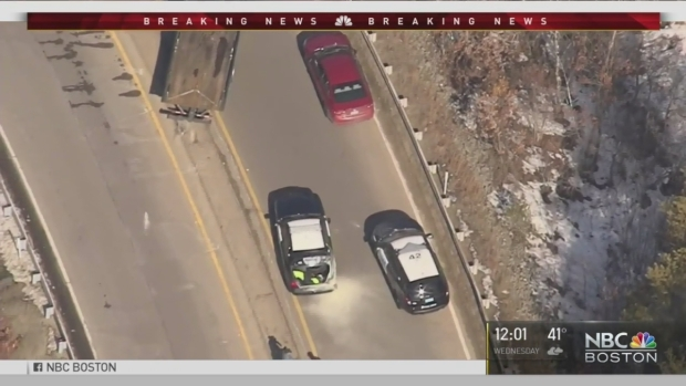 [NECN] Police Chase Ends In Middleborough With Arrest