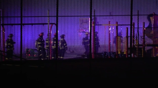 [NECN] 3-Alarm Fire at Cedardale Health and Fitness