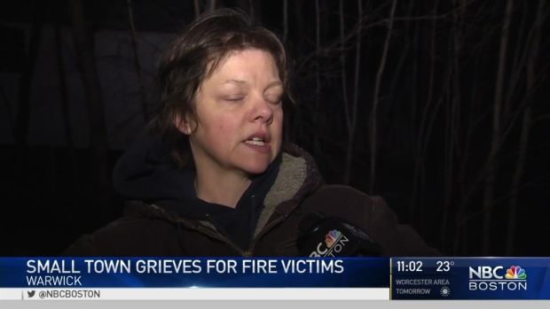 [NECN] Warwick, Mass. Residents Mourn Loss of Mother, 4 Kids in House Fire