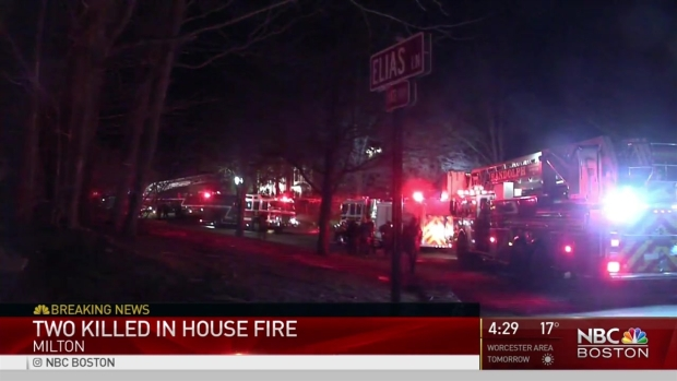 [NECN]2 Dead in Fire in Milton, Mass.