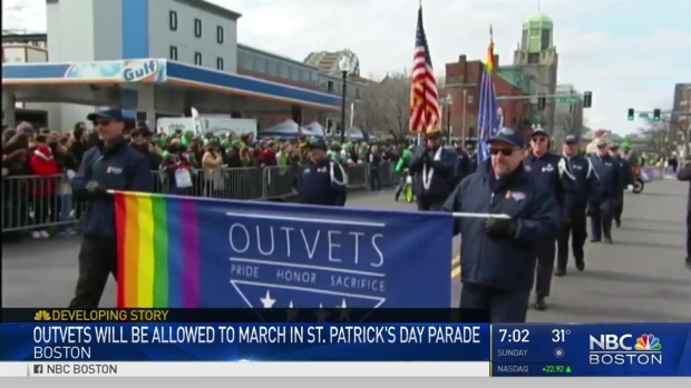 [NECN] OutVets Allowed to March in St. Patrick's Day Parade