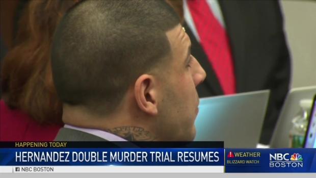 [NECN]Hernandez Trial Continues as Defense Seeks Mistrial