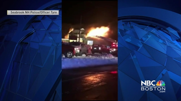 [NECN] Fire Breaks Out in Seabrook, New Hampshire