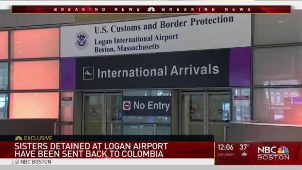 [NECN] Colombian Sisters Sent Home by Customs Officials at Logan
