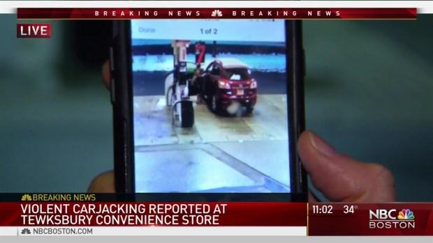 [NECN] Tewksbury Carjacking Caught on Camera