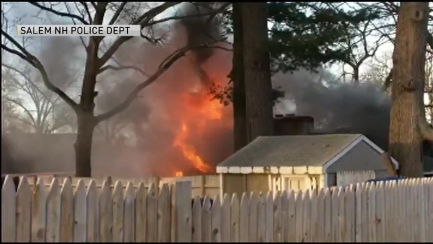 [NECN] Salem, NH Home Is Ablaze