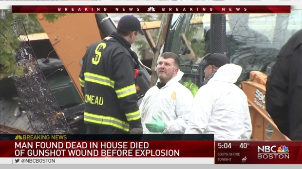 [NECN] Man Found in House Died of Gunshot Wound Before Explosion