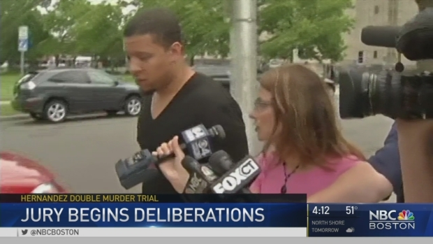 [NECN] No Verdict Reached in Hernandez Trial