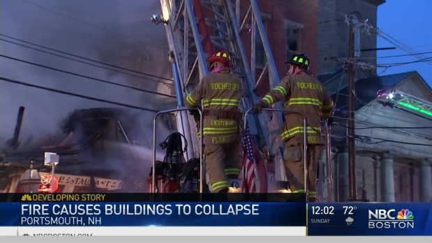 [NECN] Fire Causes Buildings to Collapse in Portsmouth, New Hampshire