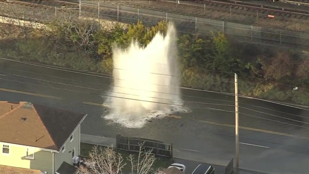 [NECN]Quincy Water Main Break