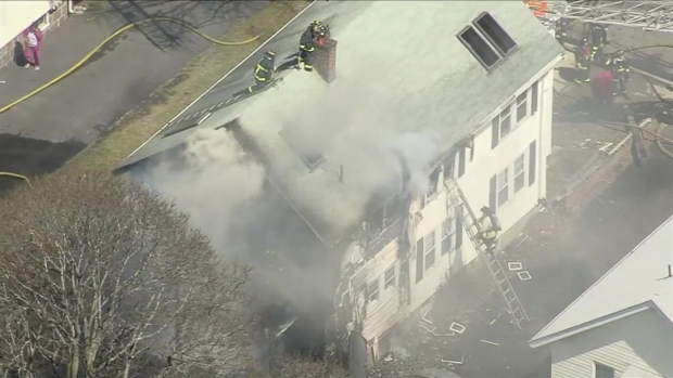[NECN] Firefighters Battle 3-Alarm Fire in Boston