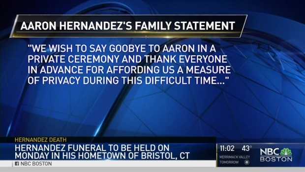 [NECN] Funeral Plans Announced for Aaron Hernandez