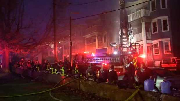[NECN] 6-Alarm Blaze in Dorchester Displaces Residents