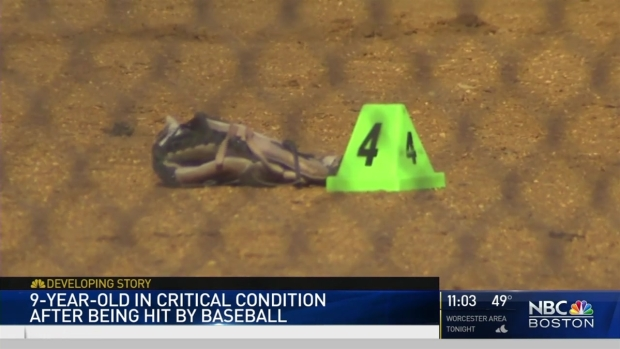[NECN] 9-Year-Old in Critical Condition After Baseball Injury