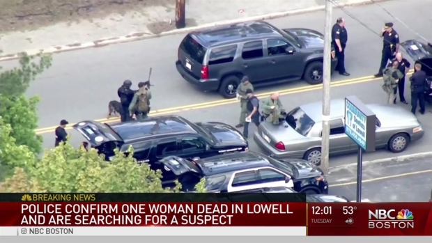 [NECN] Police Searching for Armed and Dangerous Suspect in Deadly Lowell Shooting