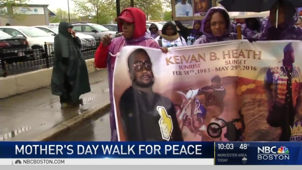 [NECN] Reporter John Maroney covers Mother's Day Walk for Peace