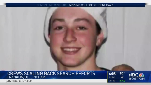 [NECN] Crews Scaling Back Search Efforts for Missing Student