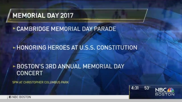 [NECN] Boston-Area Events to Commemorate Memorial Day