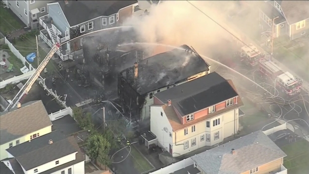 [NECN] Aerial Footage Shows Aftermath of 4-Alarm Fire in Revere