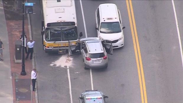 [NECN] Vehicle Hits MBTA Bus