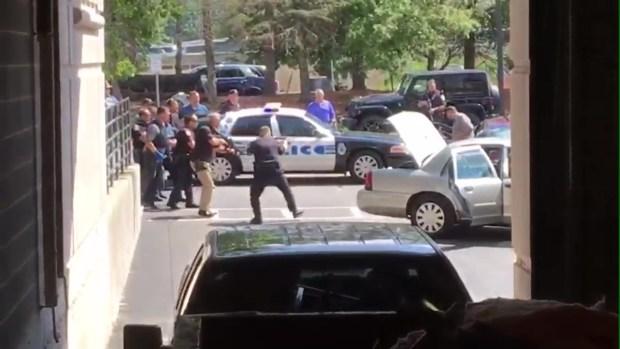 [NECN] Police Try to Apprehend Suspect in Medford