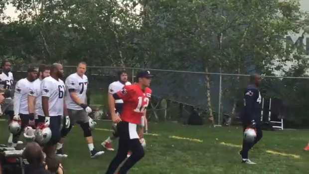 [NECN] Brady, Gronk Return to Pats Training Camp