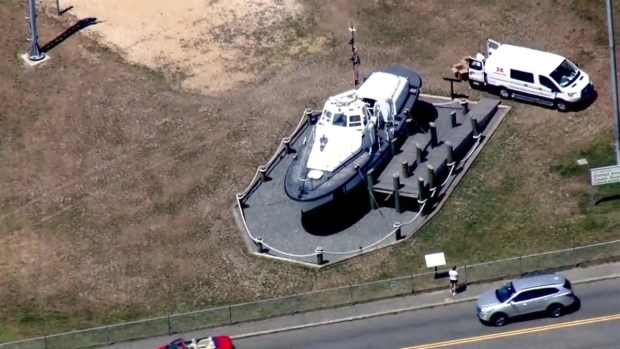 [NECN]Sky Ranger Footage: Human Remains Found on US Coast Guard Boat