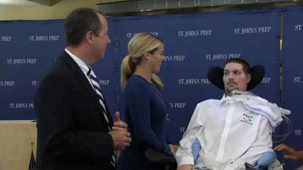 [NECN] Pete Frates Honored by His High School
