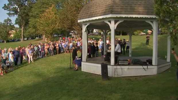 [NECN] Mourners Gather After Groton Murders