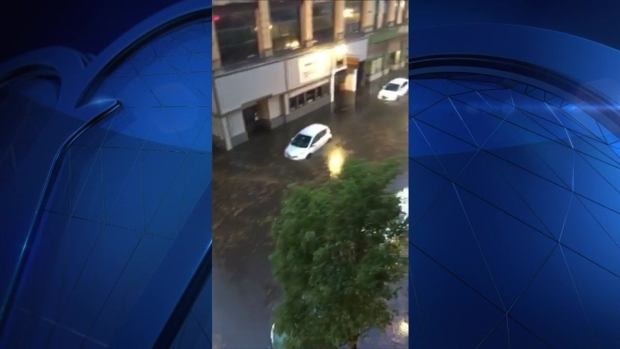 [NECN] Cars Submerged in Lynn Flood Waters