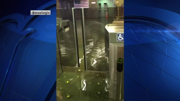 [NECN] WATCH: MBTA Station Flooded in Quincy