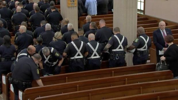 [NECN] Community Says Final Goodbye to Fallen Officer