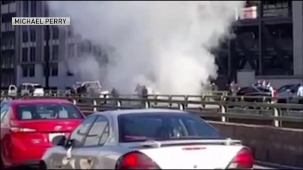 [NECN] CAUGHT ON CAMERA: Police Shoot at Pickup Truck on I-95
