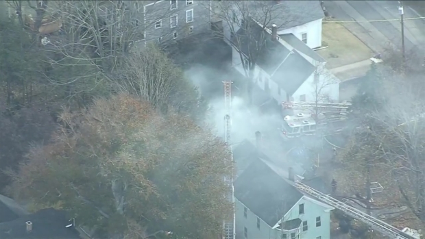 [NECN]RAW VIDEO: Sky Ranger Over Ayer Fire