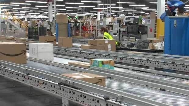 [NECN] Cyber Monday in Full Swing at Amazon Fulfillment Center