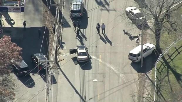 [NECN]Investigators at Scene of Multiple Vehicle Crash in Raynham, Mass.
