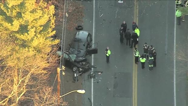 [NECN] 1 Dead, 2 Injured in Multi-Vehicle Crash in Medfield, Mass.