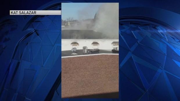 Crews Fight Fire in East Boston