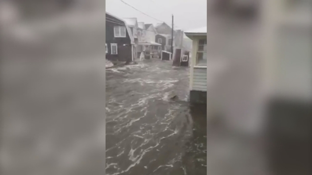 Roads Turn to Rivers in Scituate, Mass.