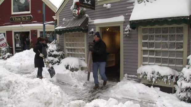 [NECN] Maine Deals With Heavy Snow, Flooding Damage