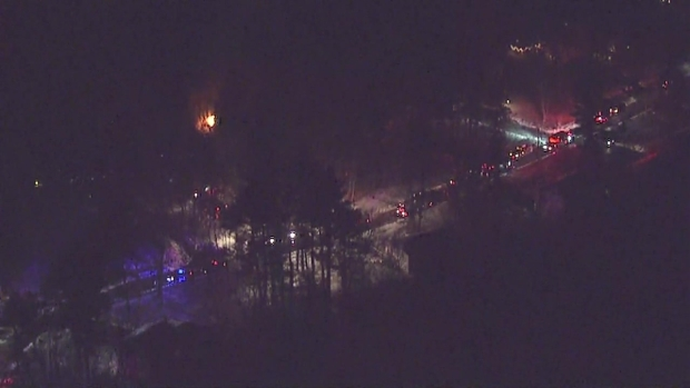[NECN] 2-Alarm Fire at Home in Westwood, Mass.