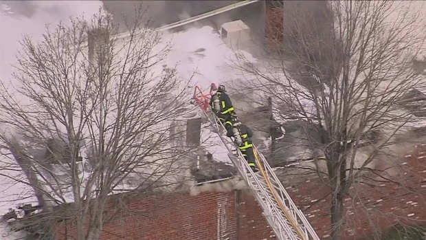 [NECN] Fire Breaks Out at Dorchester Building