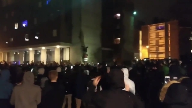 [NECN] WATCH: UMass Amherst Students Riot After Patriots Loss