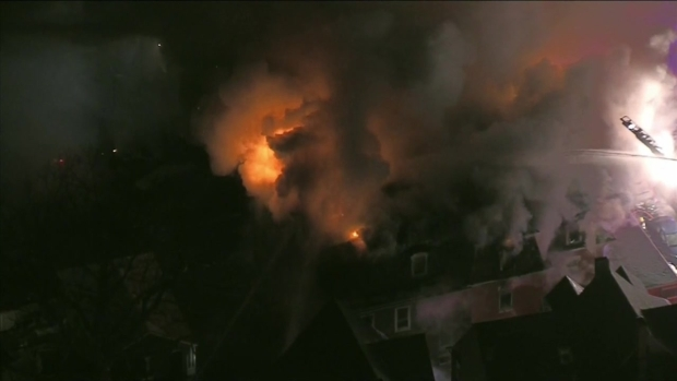 [NECN] Crews Battle Massive Fire at Worcester Building