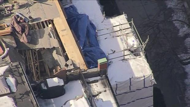 Back Bay Chimney Collapse