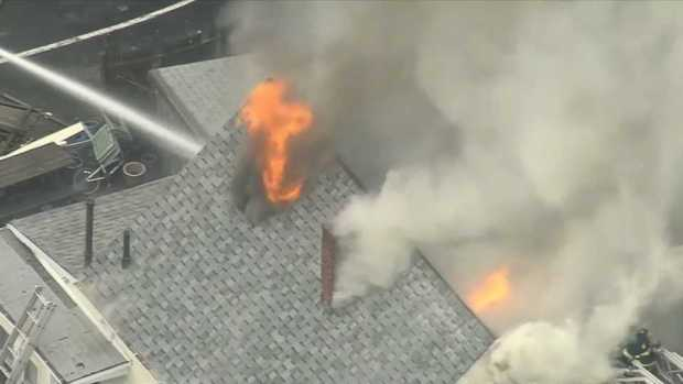 [NECN] Fire Breaks Out in New Bedford