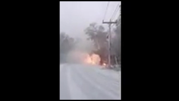 Downed Wires Catch Fire in Sandwich, Mass.