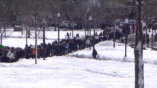 [NECN] Boston Students Take Part in Gun Protest