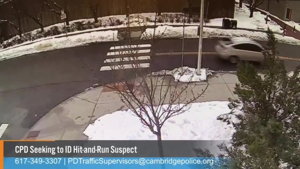 [NECN]Police Release Surveillance Video in Hit-and-Run